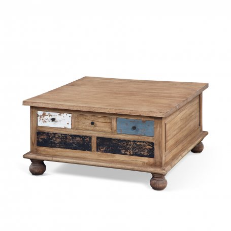 Table basse 5 tiroirs multicouleur Alamanda