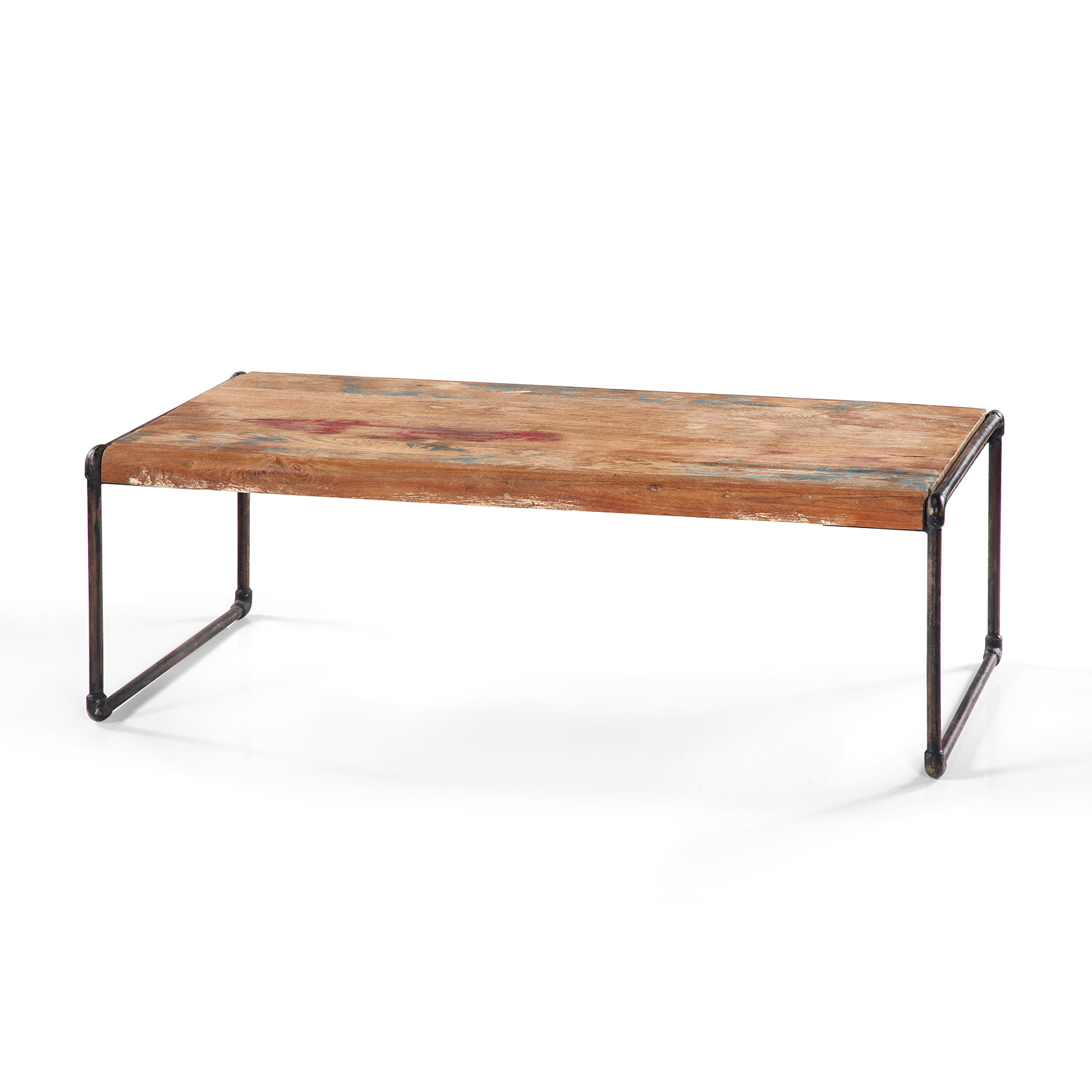Table basse rectangulaire en teck massif recycl lombock for Table basse rectangulaire bois