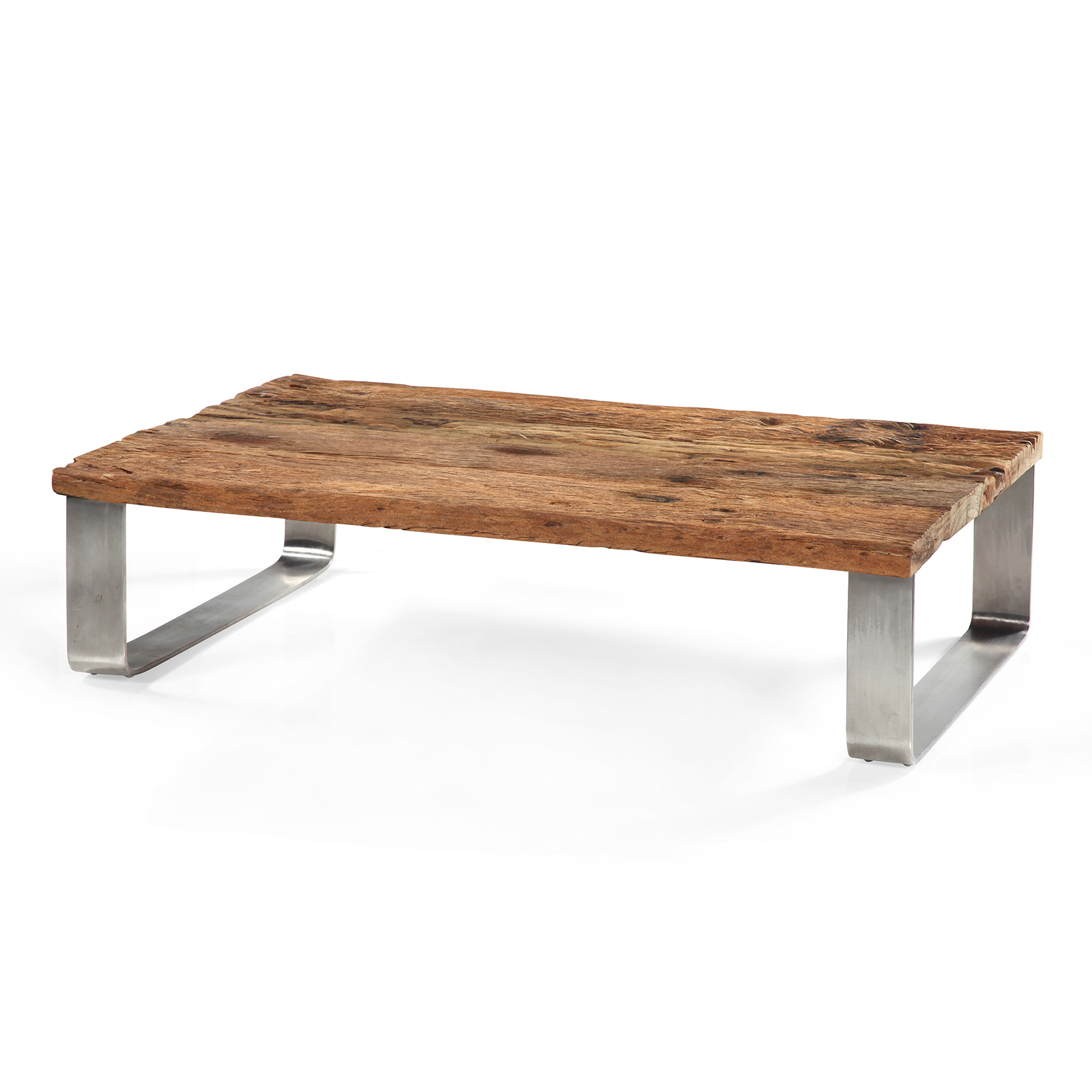 Table basse teck - Grande table de salon en bois ...